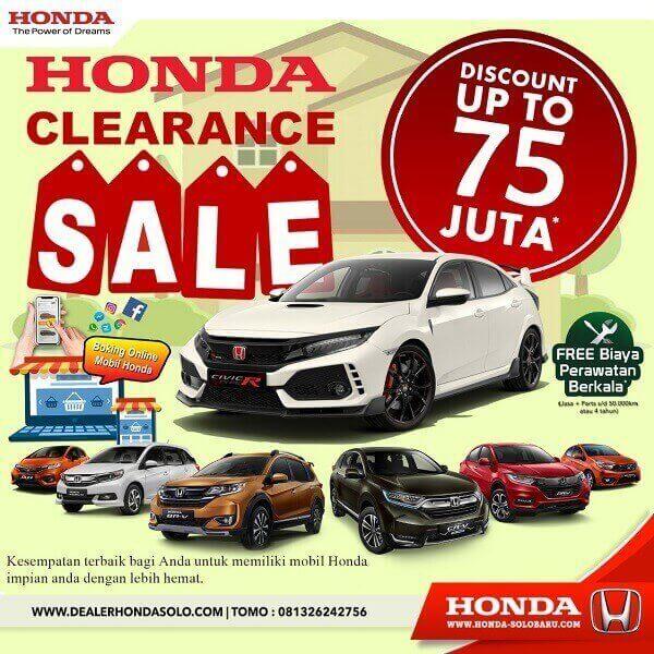 Obral Promo Diskon Up To 75 Jt Di Dealer Honda Solo